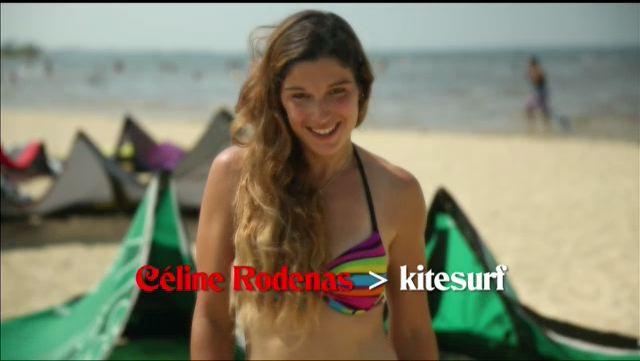Céline Rodenas, kitesurf