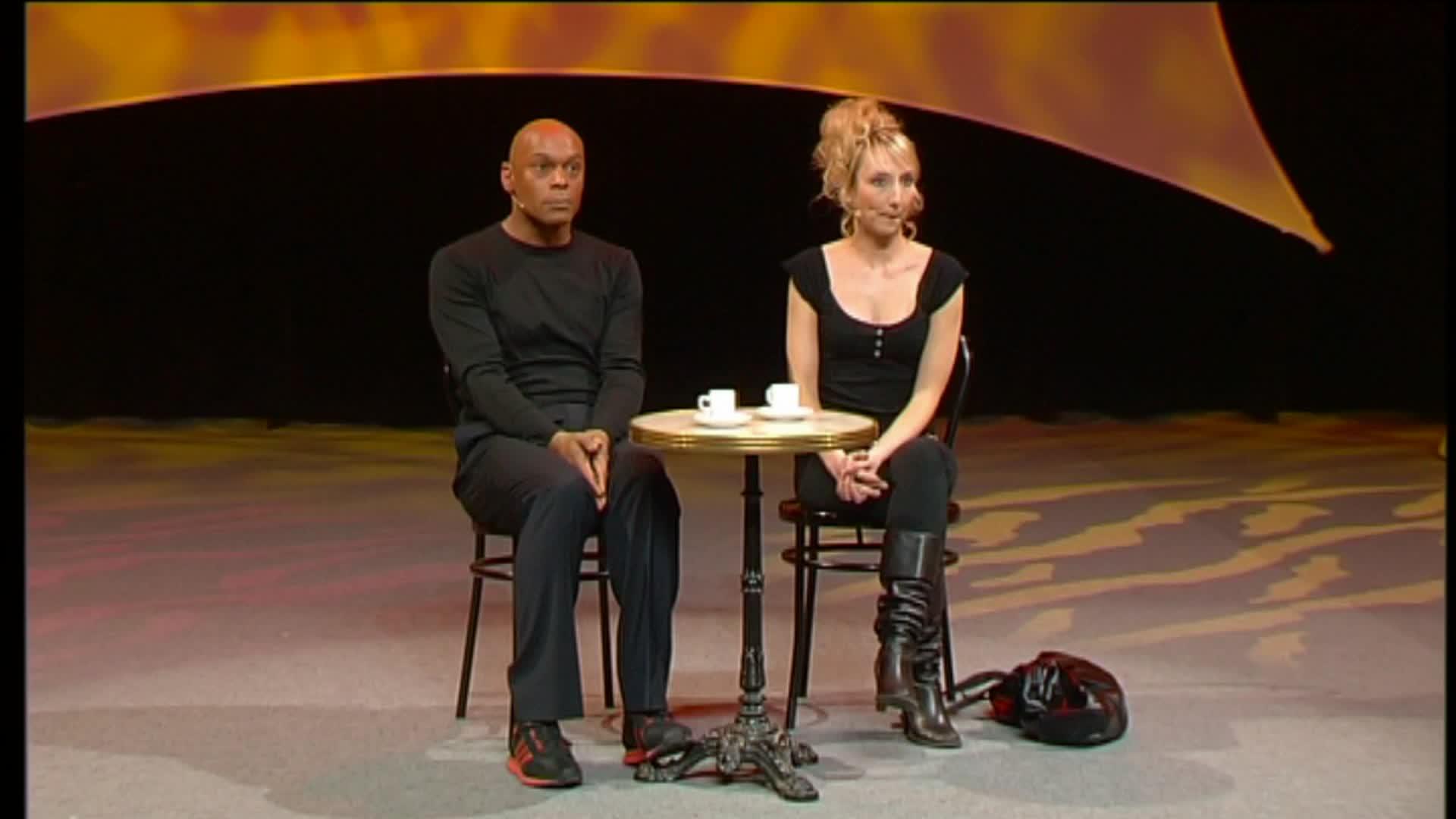 Denis Maréchal et Audrey Lamy - Après le chat