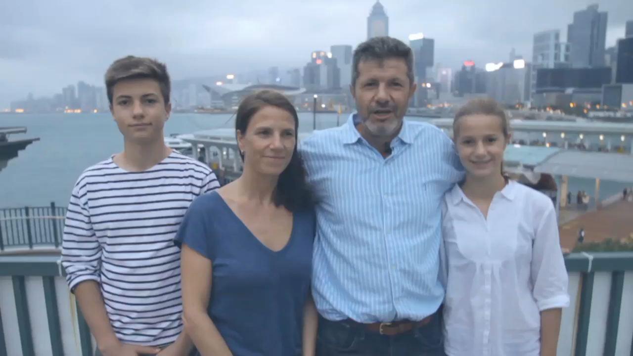 Hong-Kong - Stanislas, Béatrice, Colomba, Olivier