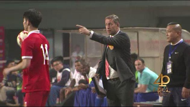 Alain Perrin, entraîneur de l'équipe chinoise de football