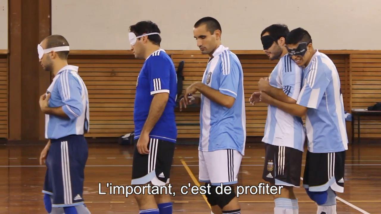 Le foot à l'aveugle - Andrew en Argentine