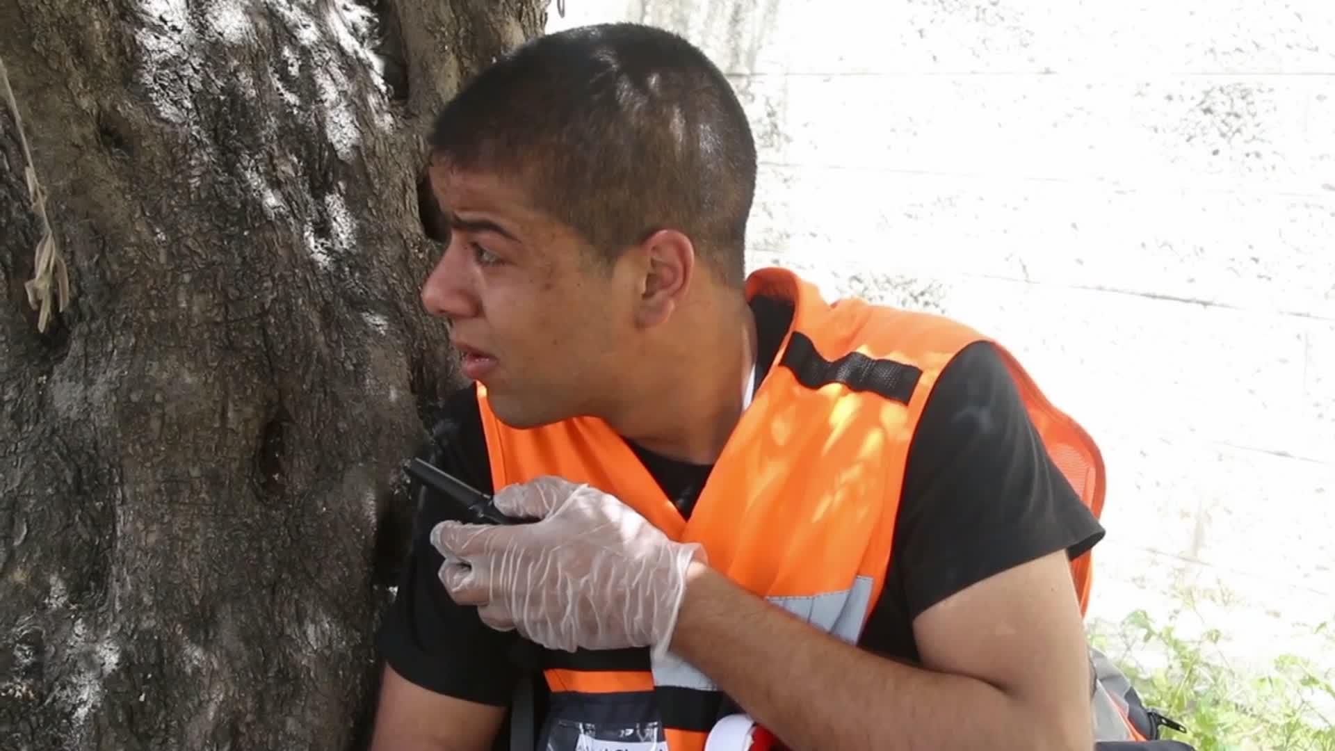 Les secouristes palestiniens en première ligne - Chloé en Palestine