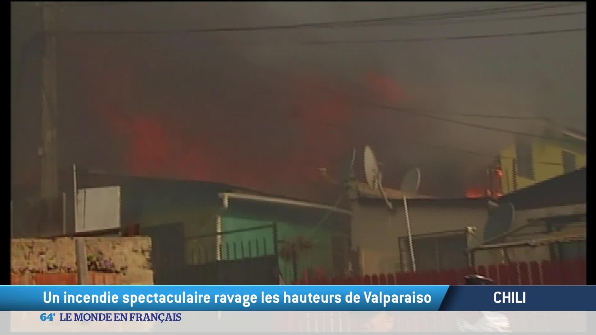 Chili : Valparaiso est à nouveau en flammes