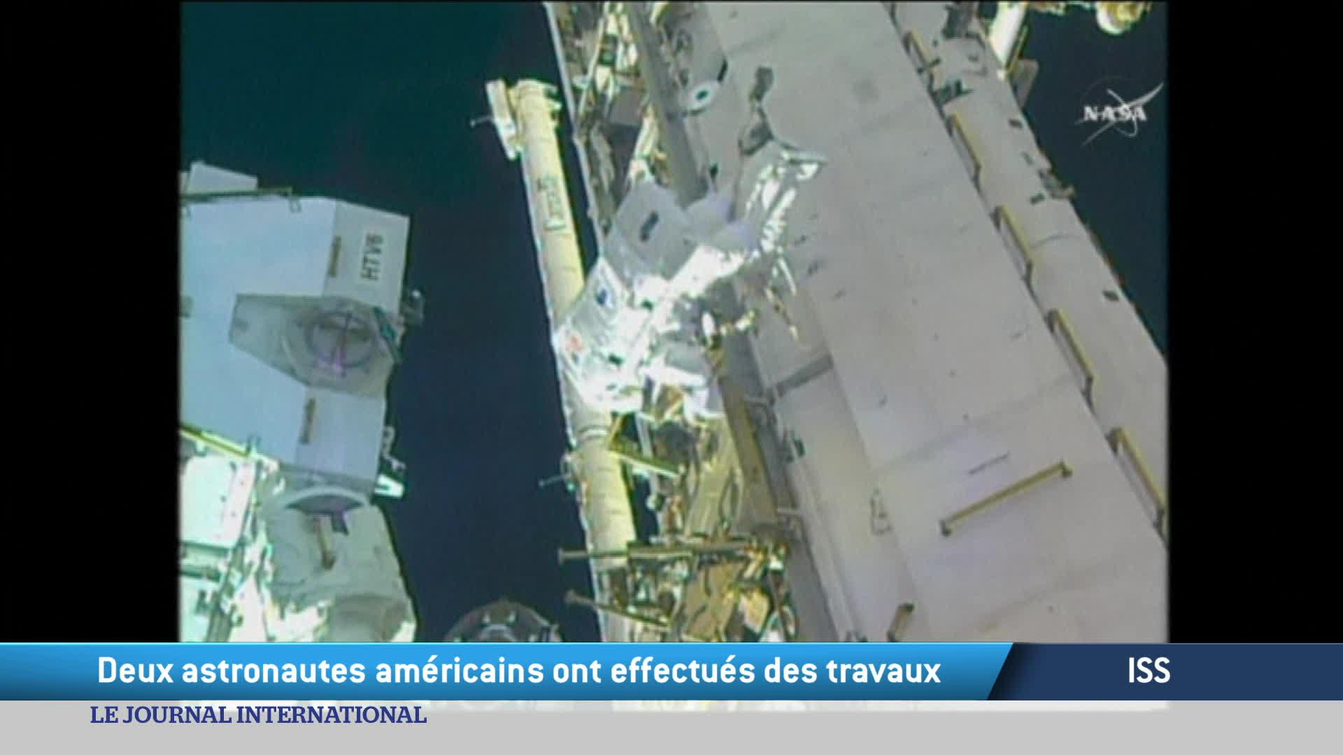 ISS : Deux astronautes américains ont effectués des travaux