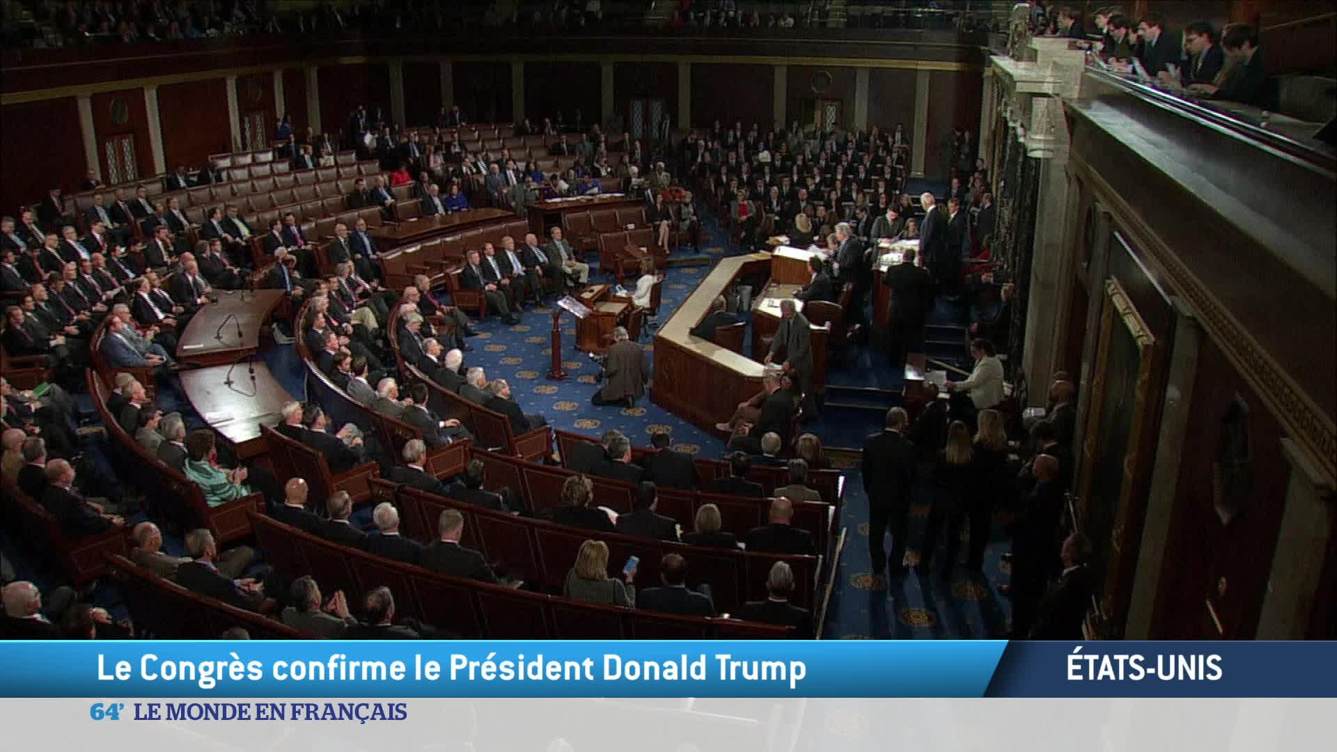 Etats-Unis : le Congrès confirme l'élection de Donald Trump