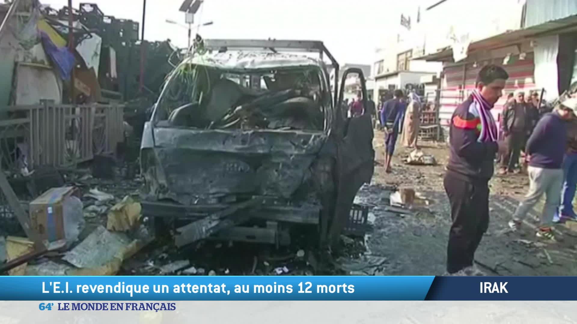 Irak : l'E.I. revendique un attentat, au moins 12 morts