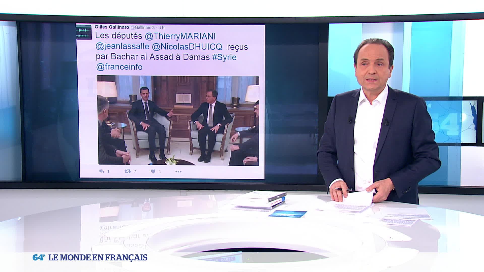 Syrie : 3 députés français reçus par Bachar al-Assad