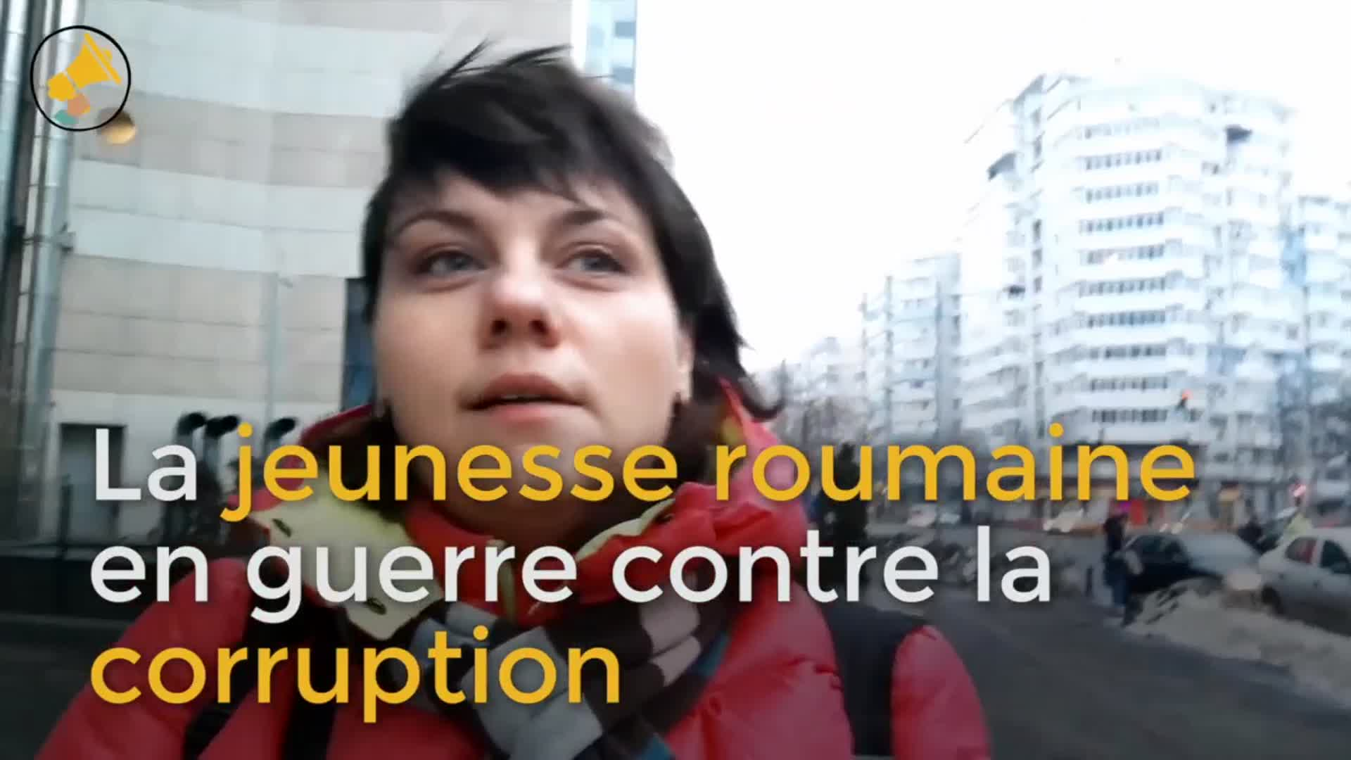 La jeunesse roumaine en guerre contre la corruption