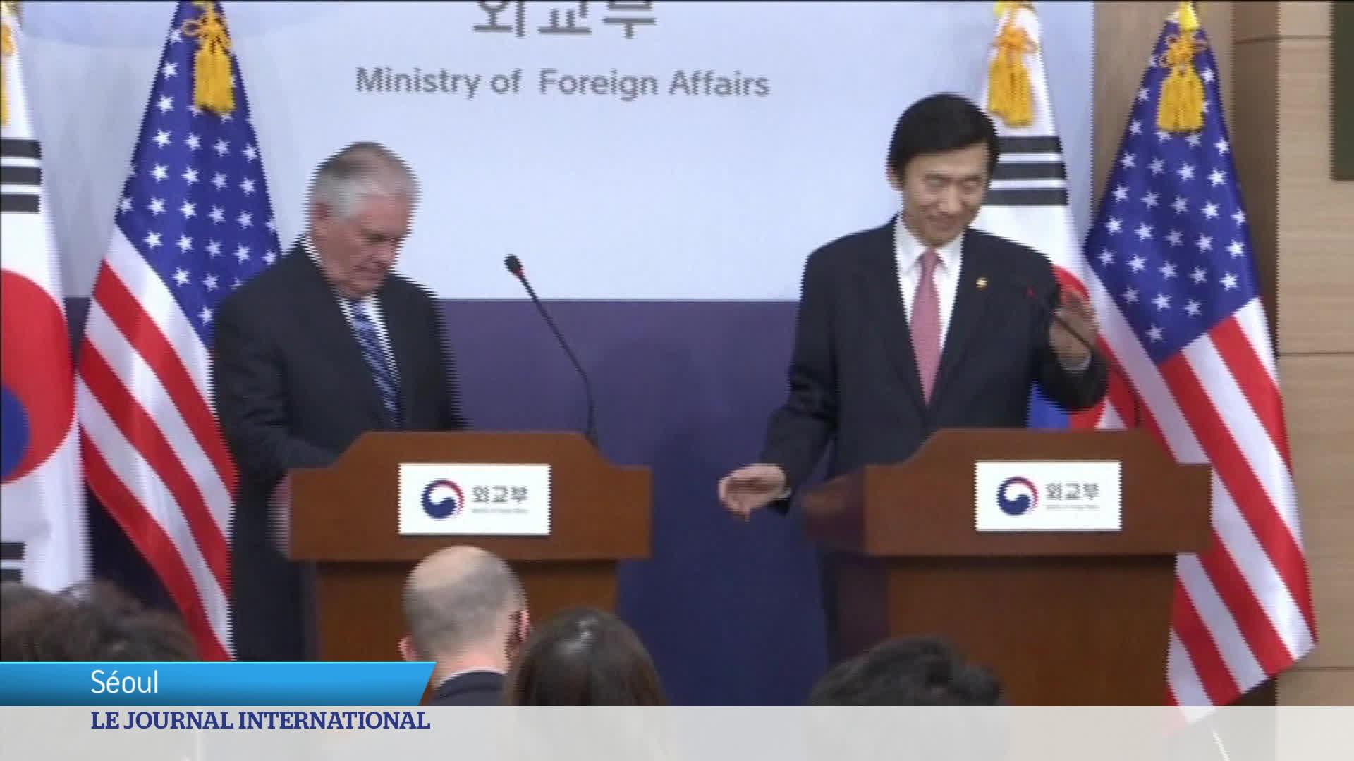 Corée du Sud : visite de Rex Tillerson