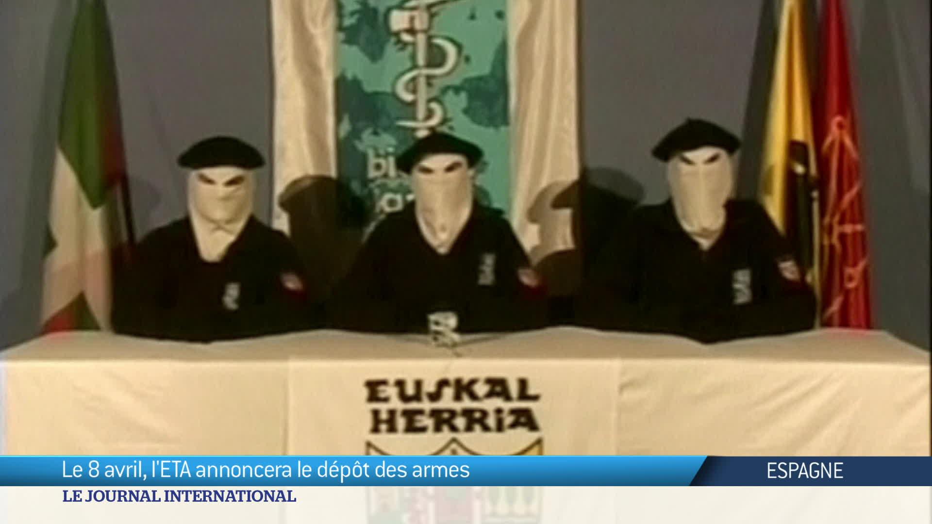 Espagne : dépôt des armes pour l'ETA
