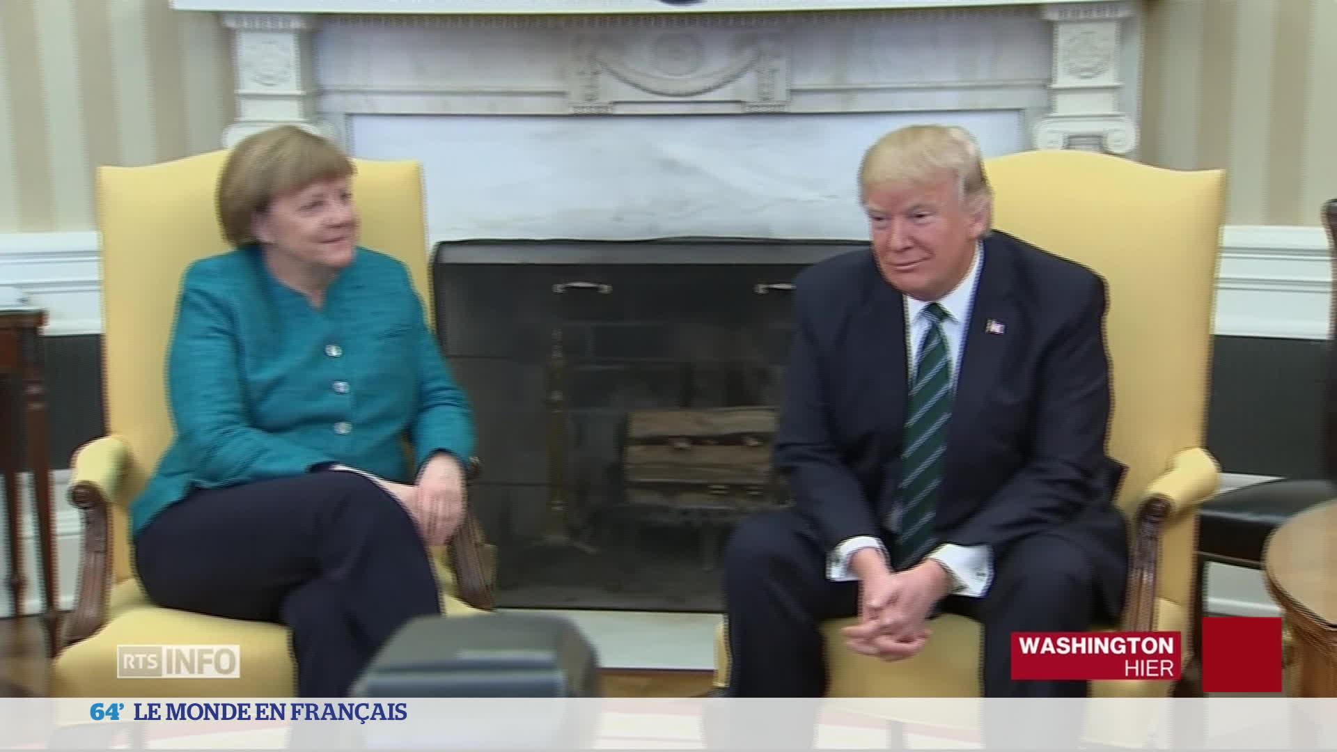 Première rencontre tendue entre Trump et Merkel