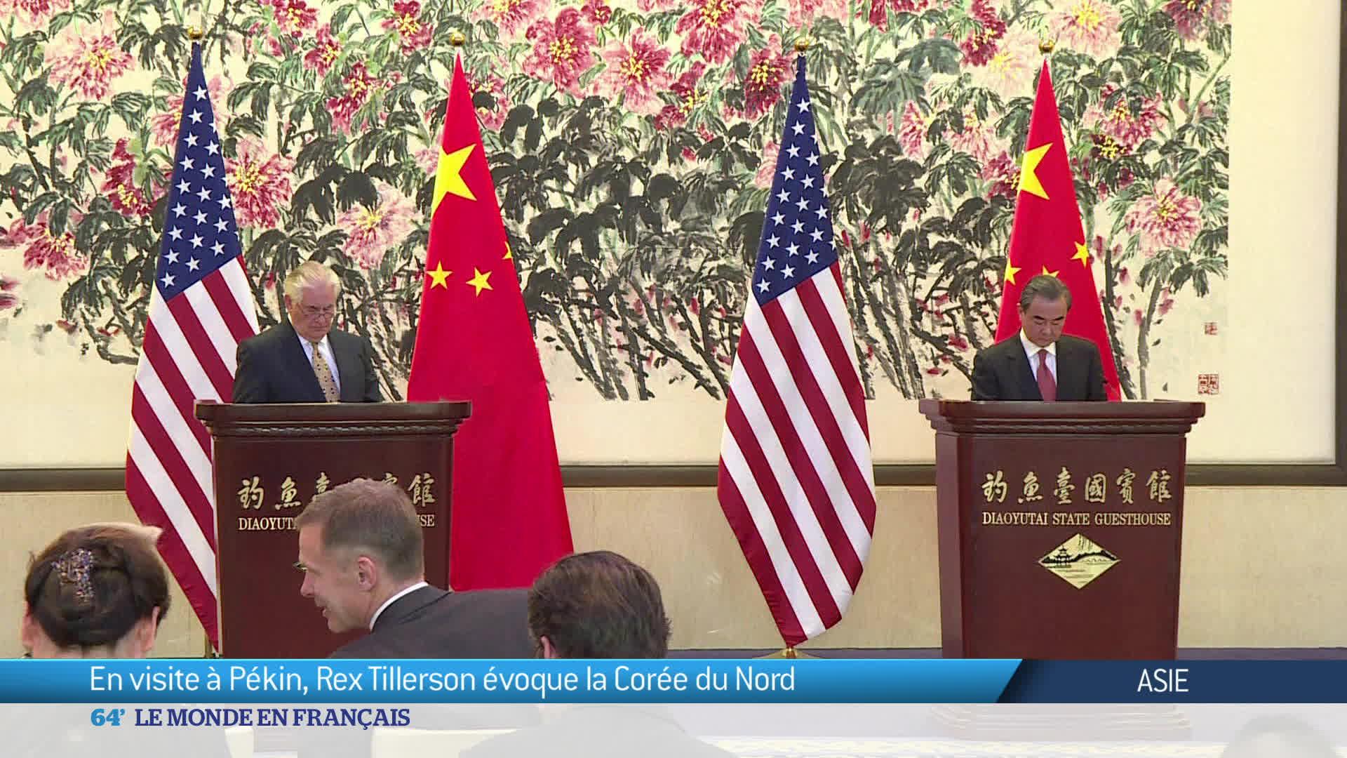 En visite à Pékin, Rex Tillerson évoque la Corée du Nord