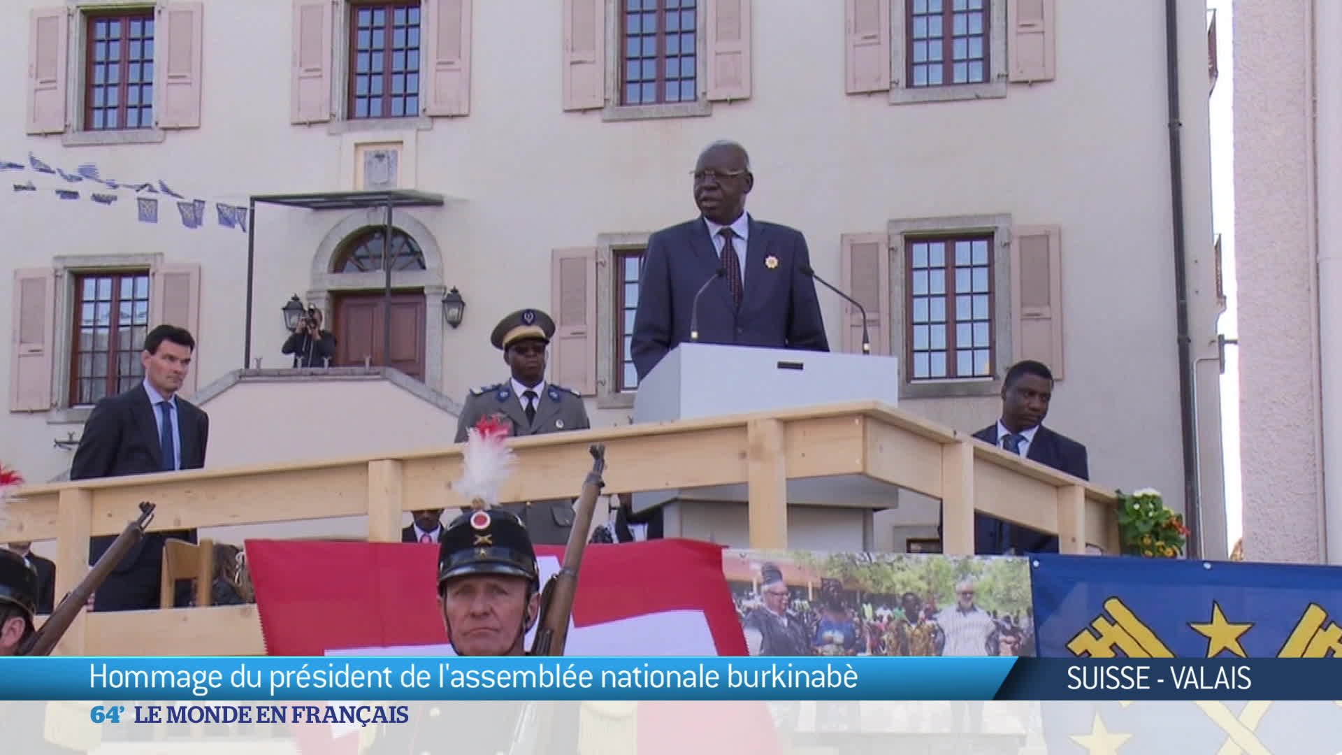 Hommage du Burkina Faso à la Suisse